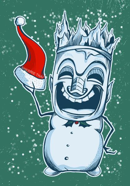 Tiki Snowman Art