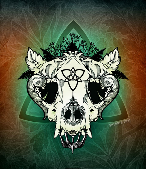 Nature Skull Artwork