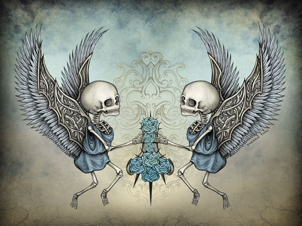 Forgotten Innocence: Skeleton Cherubs, by Sherrie Thai of Shaireproductions
