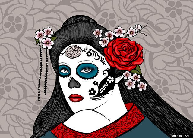 Day of the Dead Geisha