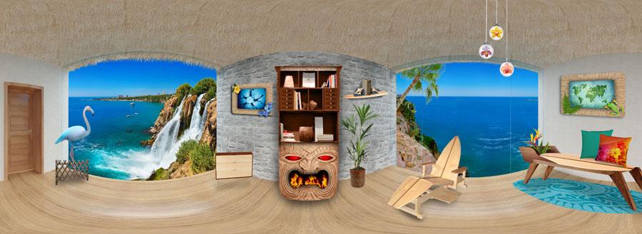 Tropical Theme Room Interior