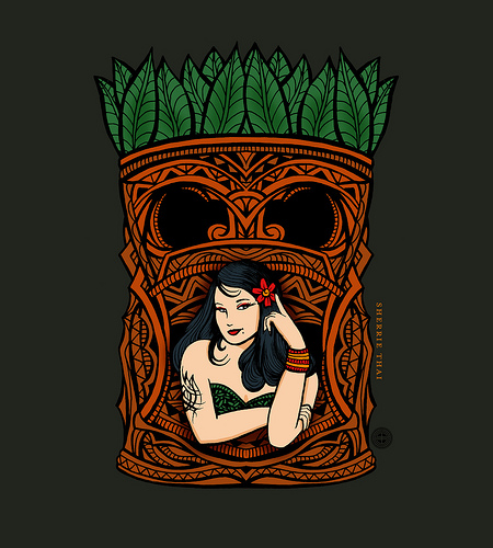 Tiki Baby, art by Sherrie Thai of Shaireproductions.com