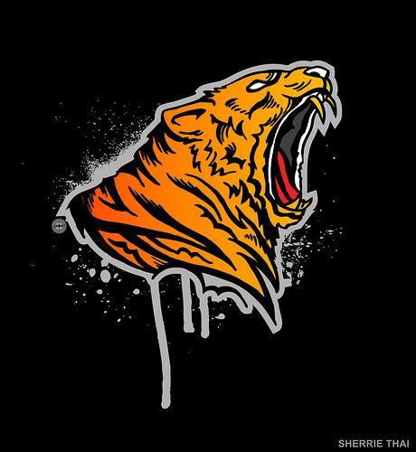 Roaring Tribal Tiger