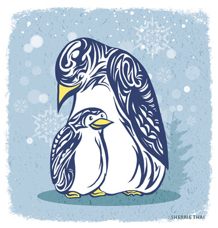 Tribal Penguin Love