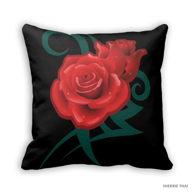 Tattoo Rose Pillow