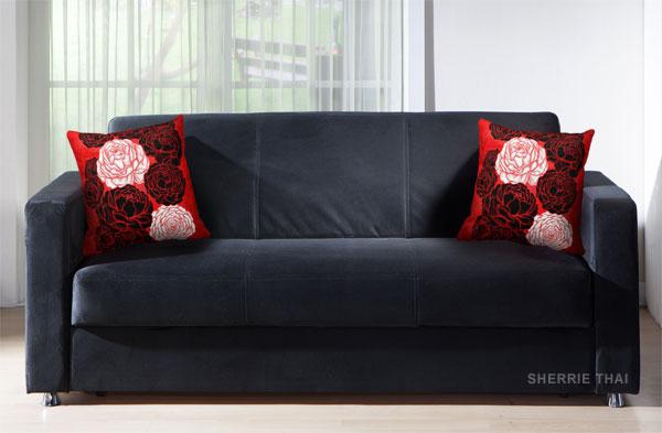 Peony Flowers Art Pillow