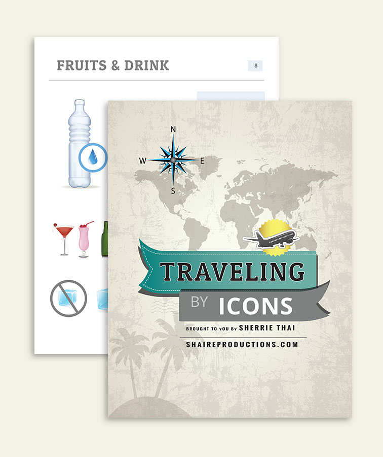 Free Download Traveling by Icons, Pictorial Guide, Assembled by Sherrie Thai of Shaireproductions.com