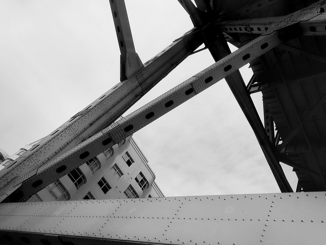 Abstract bridge and building photo by Sherrie Thai of Shaireproductions