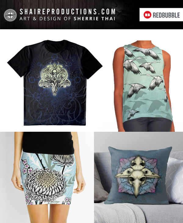 Shaire Prod Redbubble Shop Banner, Sherrie Thai of Shaireproductions