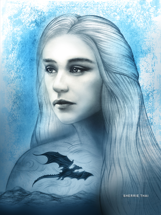 daenerys art by sherrie thai of shaireproductions.com