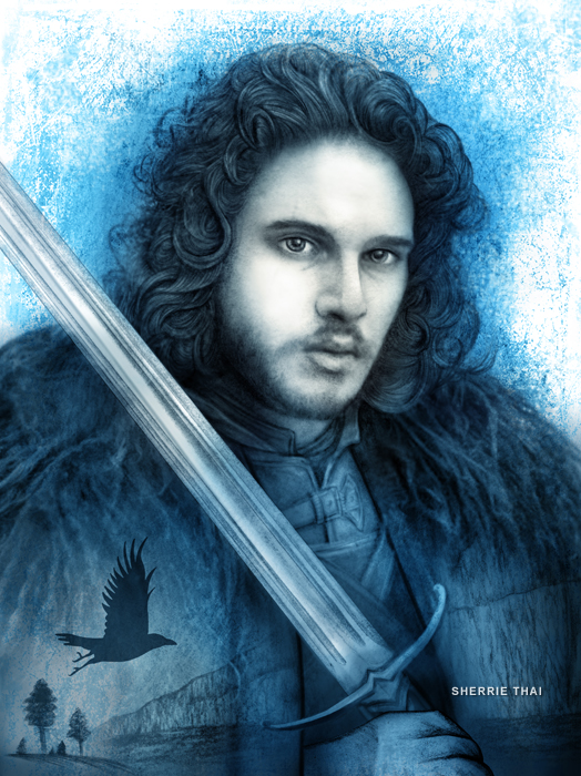 jon snow art by sherrie thai of shaireproductions.com