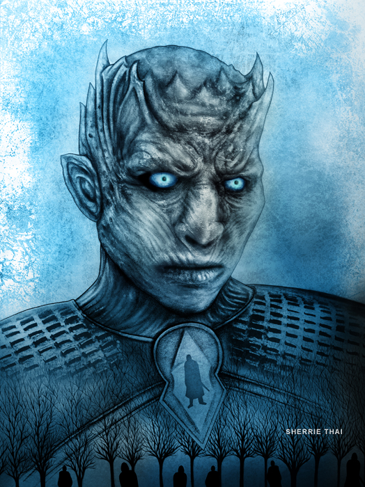 whitewalker night king art by Sherrie Thai of Shaireproductions.com