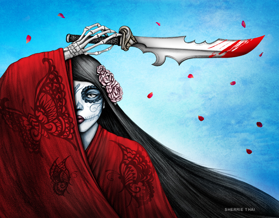 Revenge of Madame Butterfly, art by Sherrie Thai of Shaireproductions.com