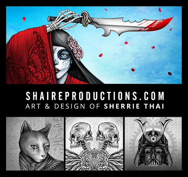 dark fantasy gothic surrealism artwork by Sherrie Thai of Shaireproductions.com