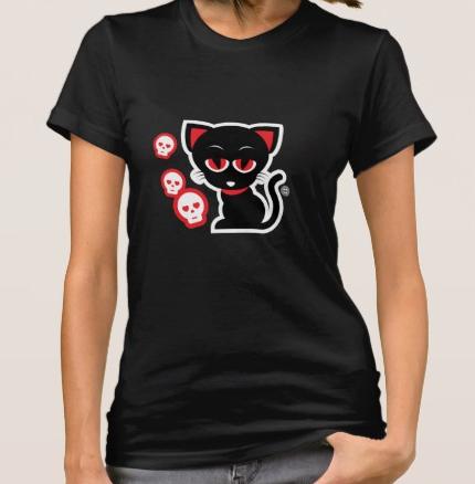 Gothic Kitty Tee Shirt