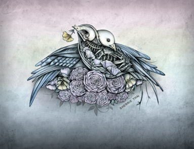 Skeleton Love Birds