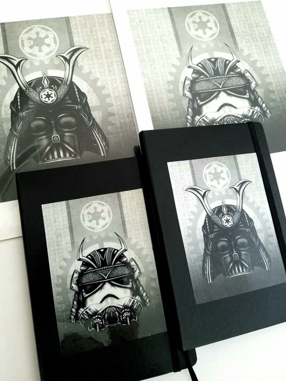 Star Wars steampunk samurai journals by Sherrie Thai of Shaireproductions.com on Etsy