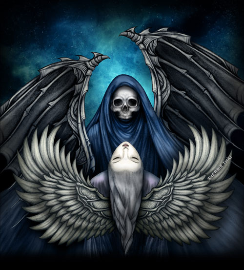 And Beauty The Maiden Light Dark Angels Fantasy